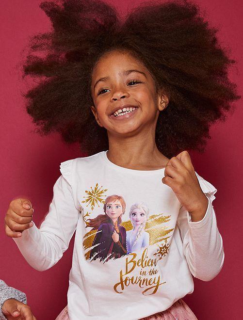 T-shirt à volants 'La Reine des Neiges 2'                             écru