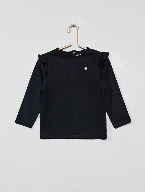 T-shirt à volants                                                                 noir Bébé fille