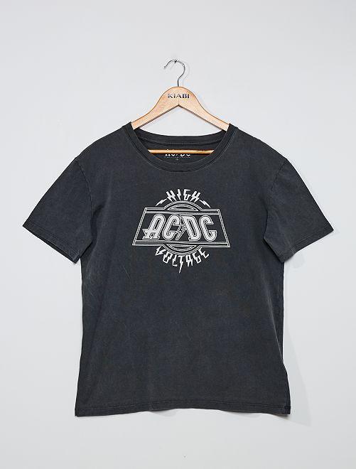 T-shirt 'AC/DC'                             gris