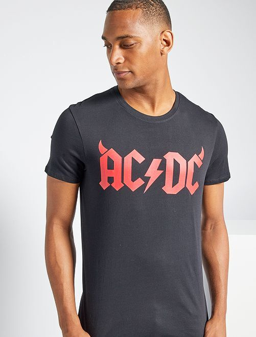 T-shirt 'AC/DC'                             noir