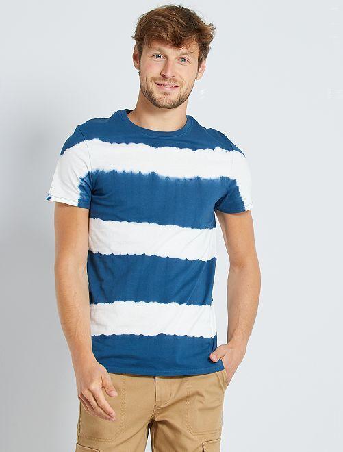 T-shirt acid wash                     bleu canard 2