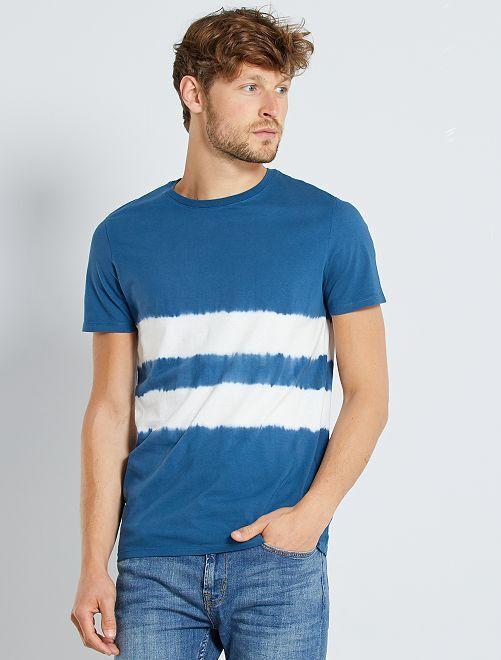 T-shirt acid wash                                                                                         bleu canard