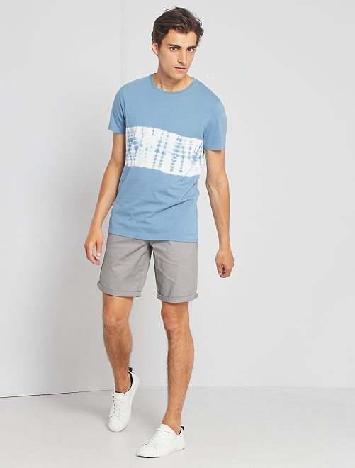 T-shirt acid wash                                                                                         bleu gris