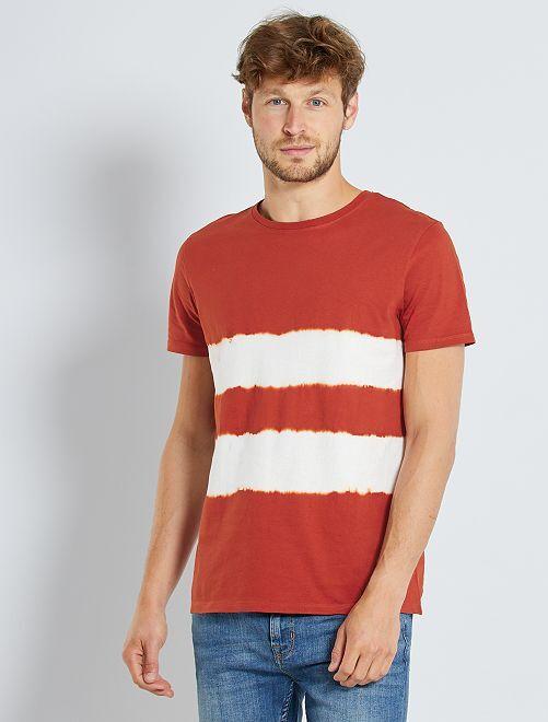 T-shirt acid wash                                                                                         orange