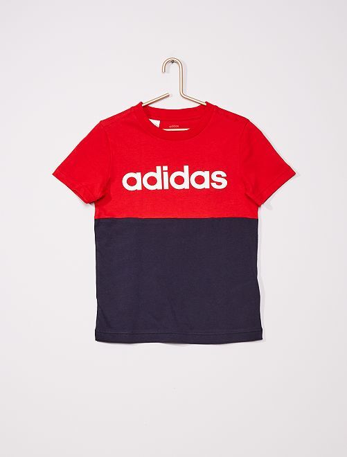 T-shirt 'adidas' colorblock                             ROUGE