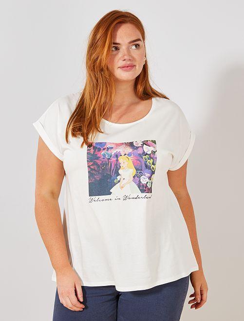 T-shirt 'Alice aux pays des merveilles'                                                                                                                                                                                                                             alice Grande taille femme