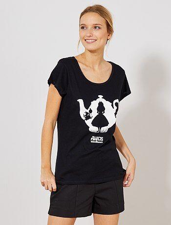 T shirt `Alice aux pays des merveilles`