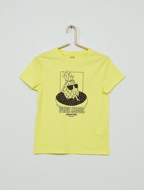 T-shirt 'ananas'                                                                                                                                                                 jaune