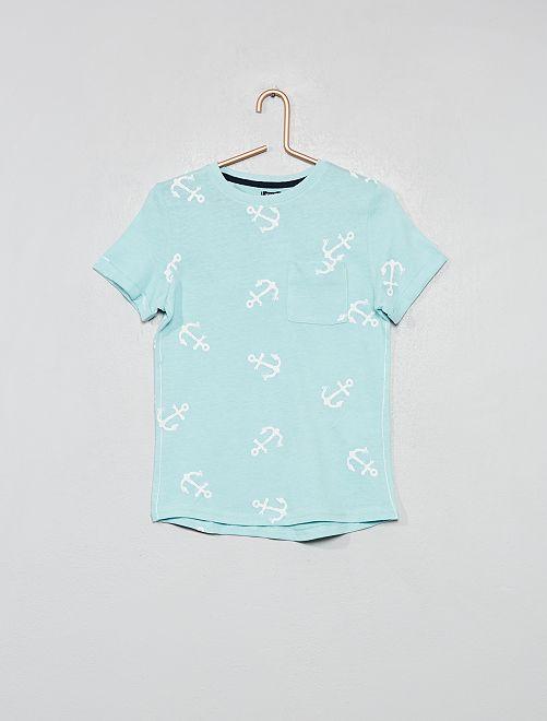 T-shirt 'ancre'                                 bleu