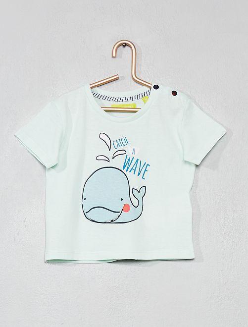 T-shirt animation 'Baleine'                                         bleu ciel Bébé garçon