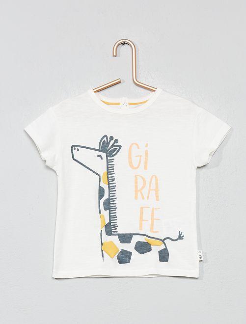 T-shirt animation 'girafe'                                         écru girafe Bébé garçon