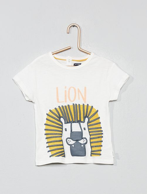 T-shirt animation 'lion'                             écru lion