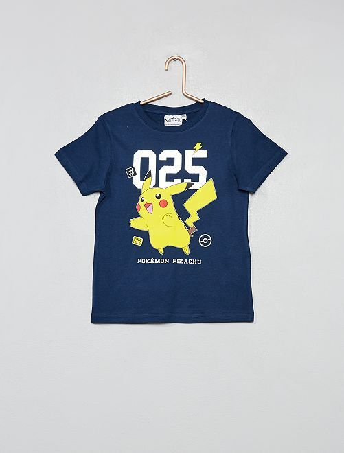 T-shirt animation 'Pikachu'                                         bleu