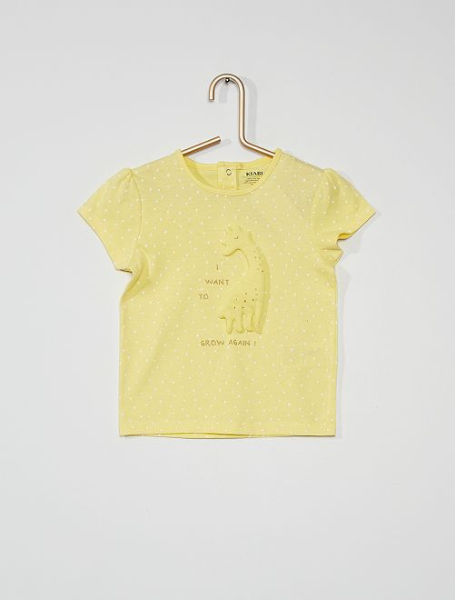 T-shirt animé éco-conçu                                                                                                     jaune