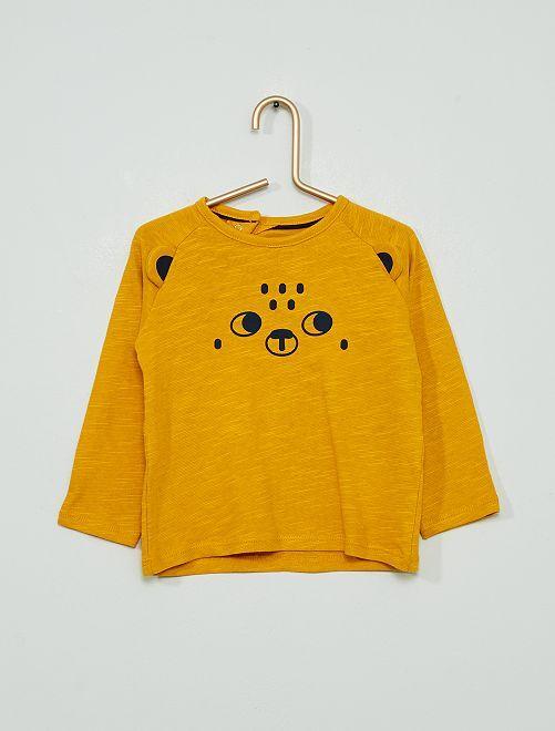 T-shirt animé éco-conçu                             moutarde