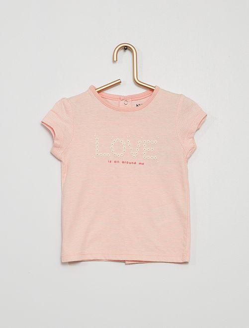 T-shirt animé éco-conçu                                                                                                     rose
