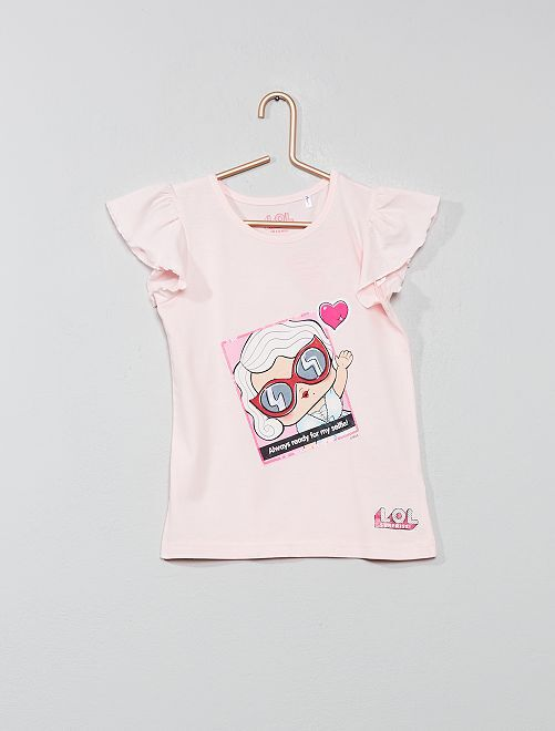 T-shirt animé 'LOL Surprise'                             rose Fille