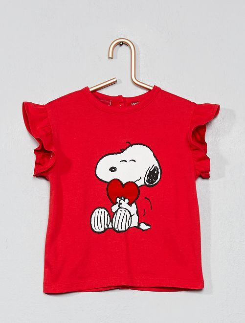 T-shirt animé 'Snoopy'                             rouge
