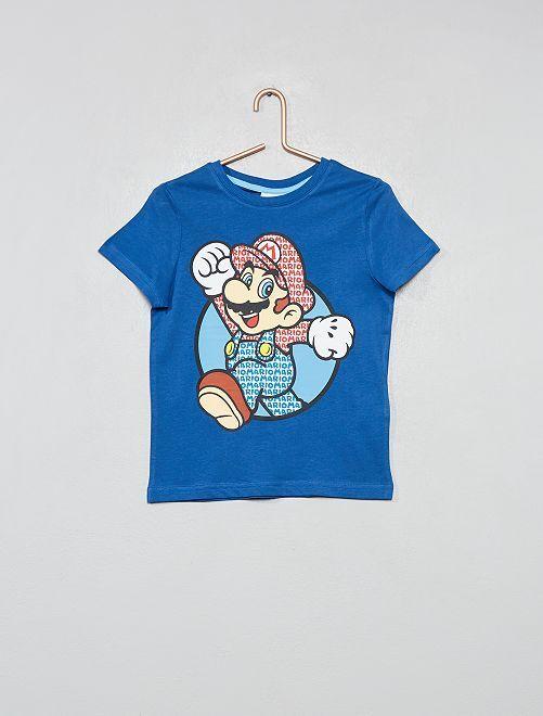 T-shirt animé 'Super Mario'                             bleu Garçon