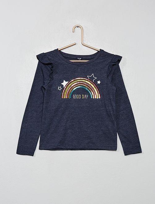 T-shirt 'arc-en-ciel'                                         bleu