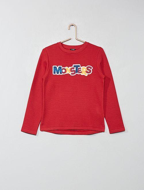 T-shirt aux rayures texturées                                         rouge Garçon