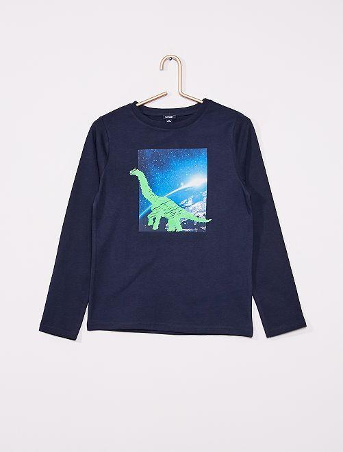 T-shirt avec animation                                                                 bleu marine