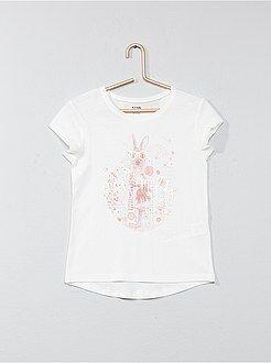 Fille 3-12 ans - T-shirt avec animation - Kiabi