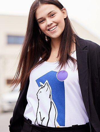 Grande taille femme - T-shirt avec animation graphique - Kiabi 8841c4b9d1d4