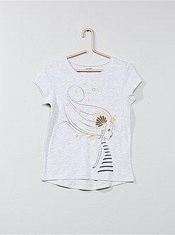 Tee shirt, débardeur - T-shirt avec animation - Kiabi