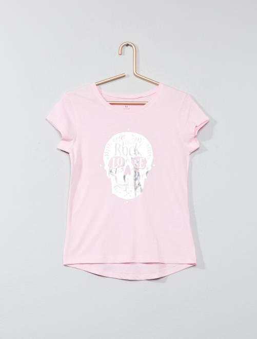 T-shirt avec animation                                                                 rose