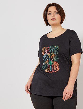 T shirt avec broderie placée
