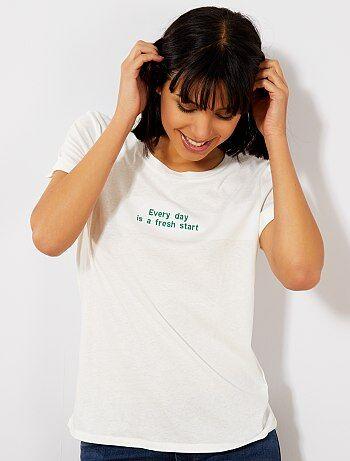 8ad685b051625 Vêtements coton bio femme : t-shirt, sweat bio Femme | Kiabi