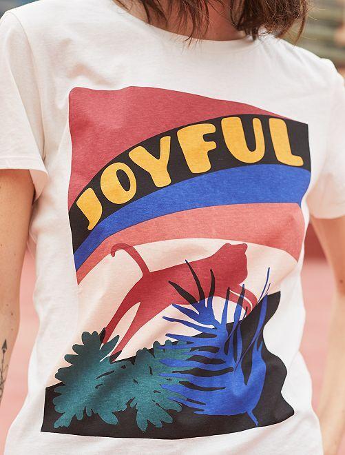 T-shirt avec photoprint                                         imprimé Femme