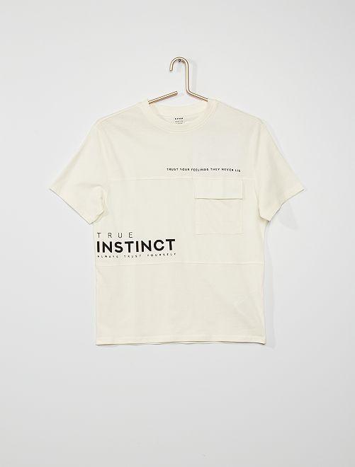 T-shirt avec poche                             blanc