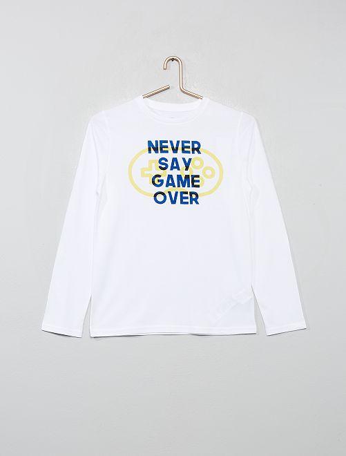 T-shirt avec print                                                                                                                                                                 blanc/game
