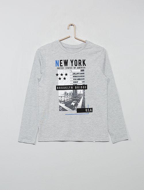 T-shirt avec print                                                                                                                                                                 gris/brooklyn