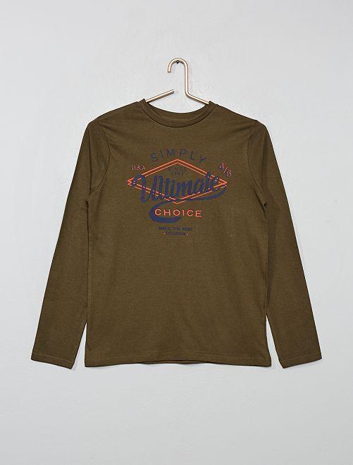 T-shirt avec print                                                                                                                 kaki/ultimate