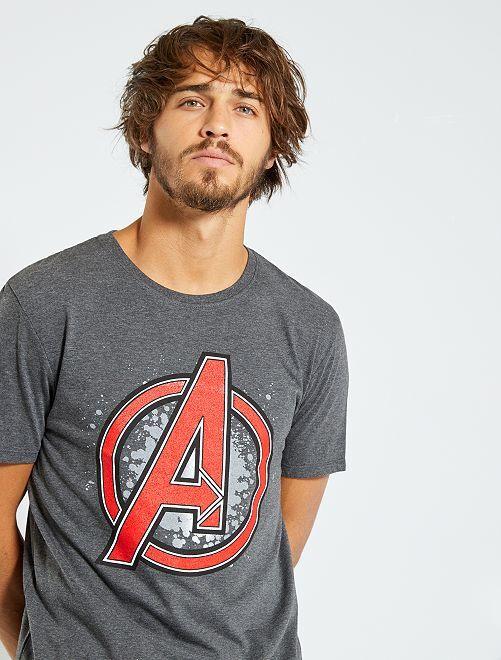 T-shirt 'Avengers'                             gris chiné