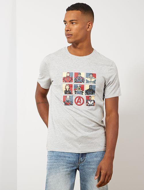 T-shirt 'Iron Man'                                                         gris Homme
