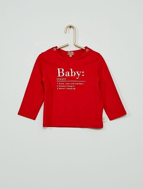 T-shirt 'Baby' éco-conçu                                                     rouge