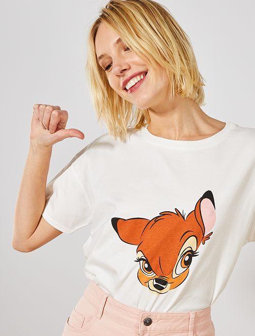 T-shirt 'Bambi'                                                     blanc Bambi
