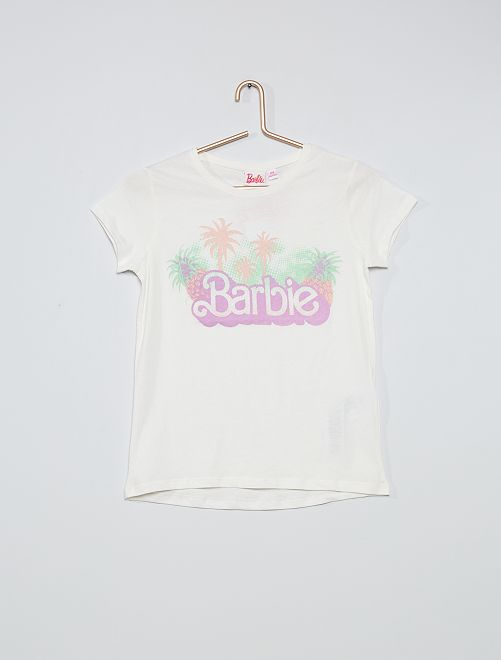 T-shirt 'Barbie' pailleté                                         blanc