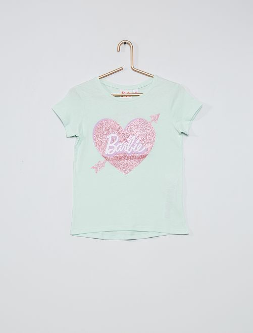 T-shirt 'Barbie' pailleté                                         vert