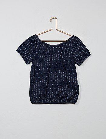 419526a5f940e T-shirt bardot broderie anglaise - Kiabi