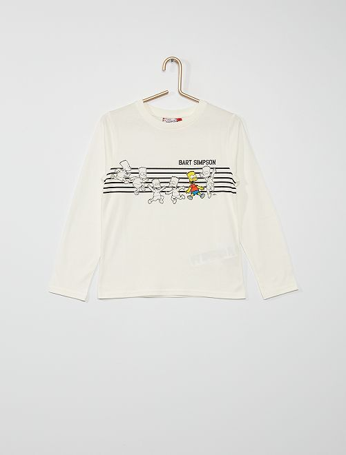 T-shirt 'Bart Simpson'                             blanc