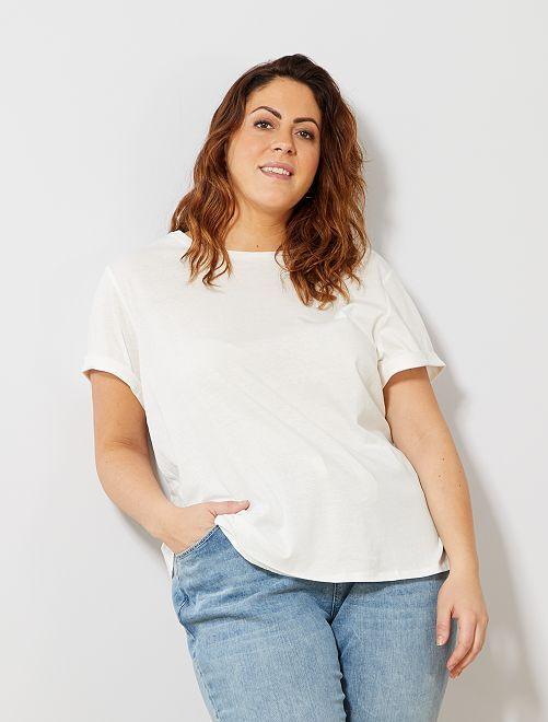6a2c80a1c982e T-shirt basique 100% coton