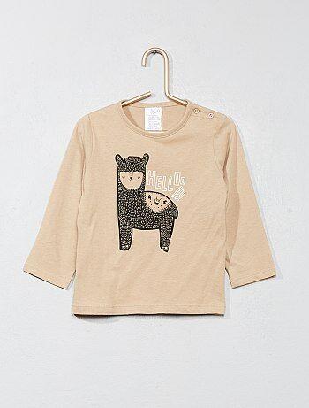 Garçon 0-36 mois - T-shirt basique avec imprimé - Kiabi