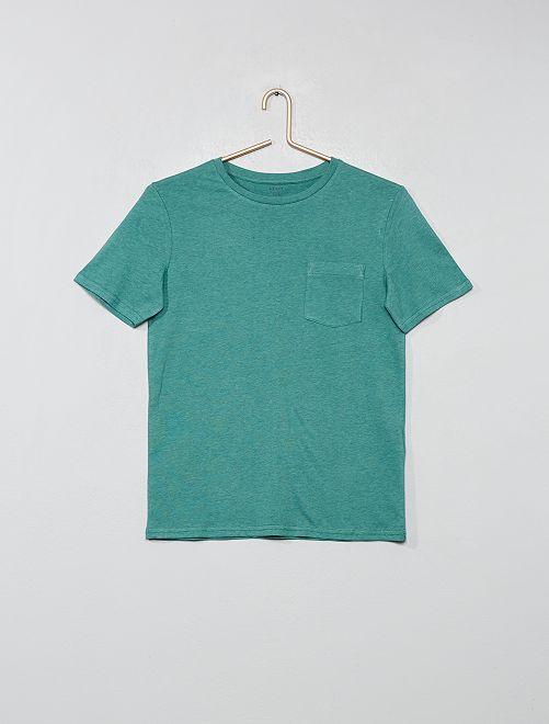 T-shirt basique avec poche                                                                                                                                                     vert