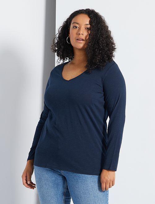 T-shirt basique                                                                                                                             bleu marine