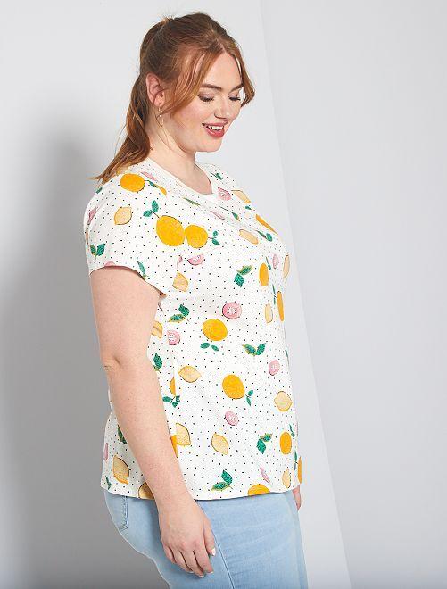 T-shirt basique éco-conception                                                                                                                                                                 agrumes